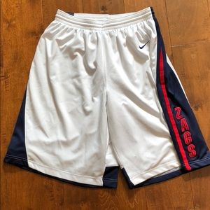 Gonzaga Nike Authentic Basketball Shorts